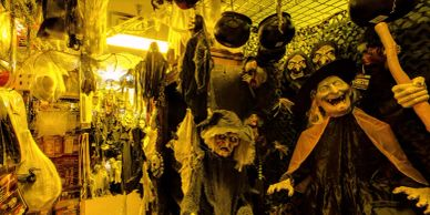 haunted house at Costumes Plus