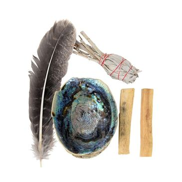 White Sage and Palo Santo Smudging Kit