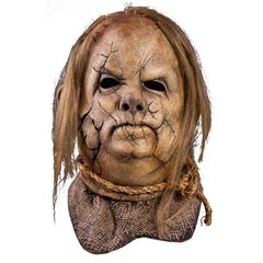 Full latex mask of harold the scarecrow licensed mask from scary stories to tell in the dark.