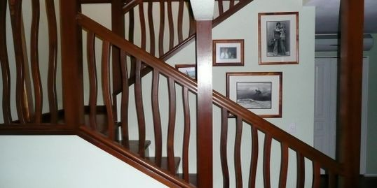 One Of My Favorite Pieces, Ipe' Stair Rail. We made every part