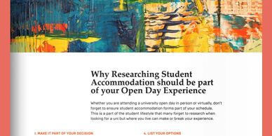 Why Researching student accommodation should be part of your open day experience