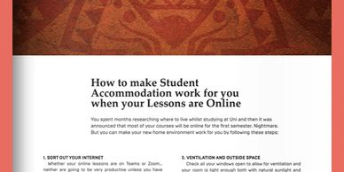 How to make student accommodation work for you when your lessons are online