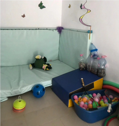 Sensory room set up by the charity