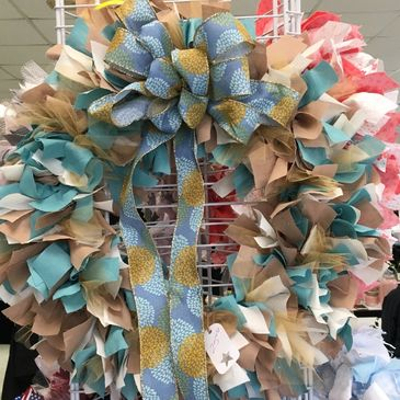 Handmade rag wreath