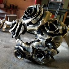 Brass brushed metal roses