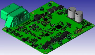 3D CAD image of the Automotive Controller