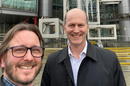 Ravinol Chambers and Ben Brabyn visiting Channel 4 in early 2020.