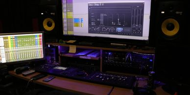 Noise Complaint Studios Control / Mixing Room with KRK Rokit 8s, Avid Artist Mix, Control, Transport
