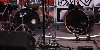 NC Studios Multiple Pearl Kick Drums, and Toms for several combinations of percussive configurations