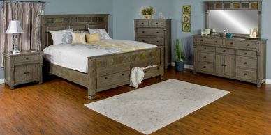 Bedroom Furniture, Solid Wood, Dresser, Chest, Nightstand, Mirror, Queen Bed, King Bed, Headboard,