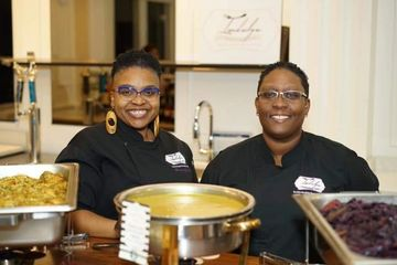 Executive Chef Queen Precious-Jewel & Sous Chef Jacqueline put love & care into everything they do.