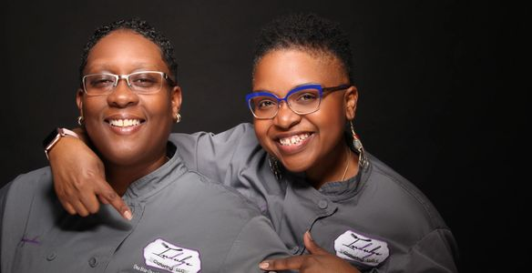 Executive Chef Queen Precious-Jewel (right) & Sous Chef Jacqueline