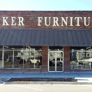 A photograph of the storefront of Baker Furniture in Eufaula, Alabama
