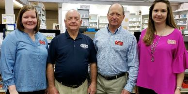A photograph of the staff at Buy-Rite Drugs in Eufaula, Alabama.