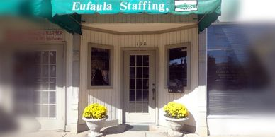 A picture of the storefront at Eufaula Staffing in Eufaula, Alabama