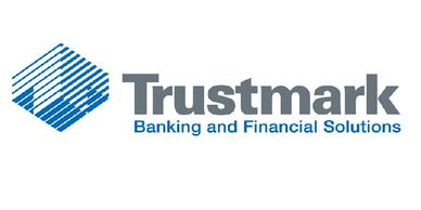 The Trustmark Bank logo, in Eufaula, Alabama.