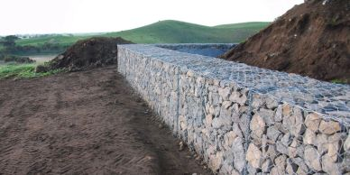 High quality gabion retaining walls for architectural finishes