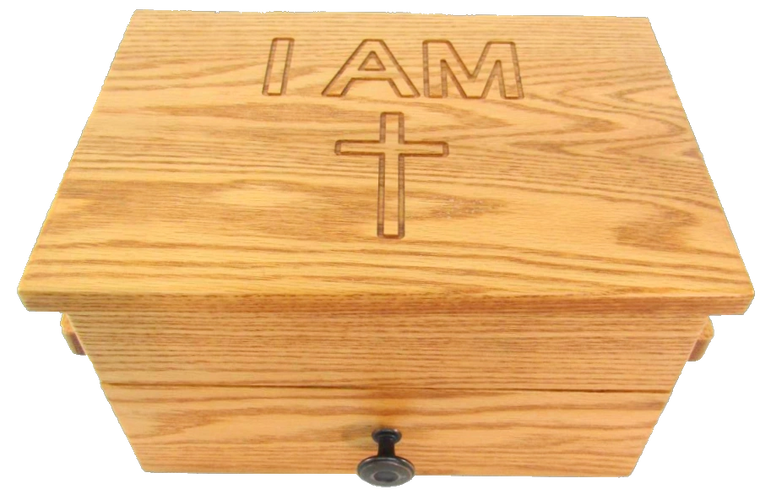 Solid Oak American Made Personal Table Top  Altar   INTERCEDENCE ALTARS ™