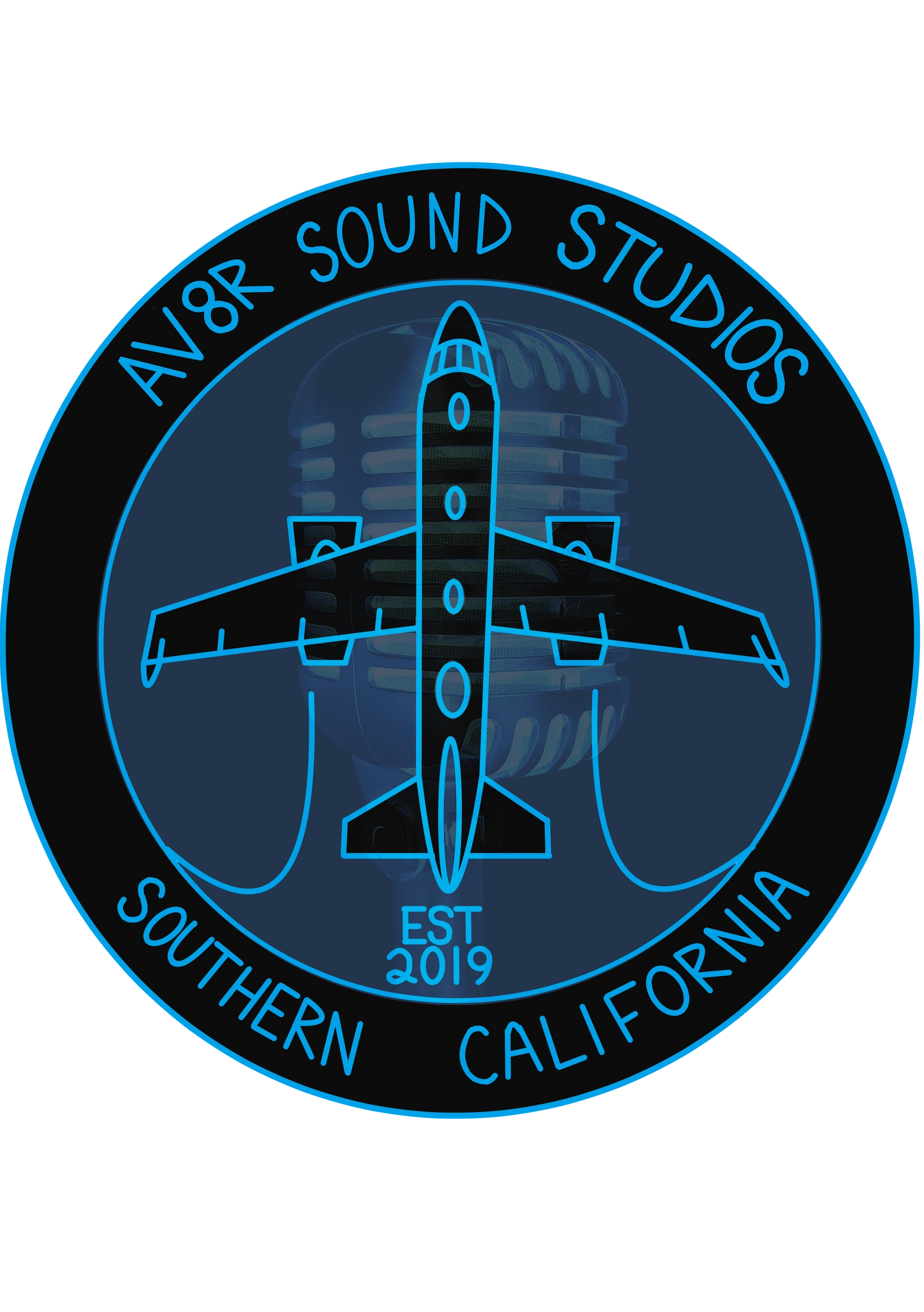 Av8r Sound Studios logo Illustrated by Mia Ciaravella