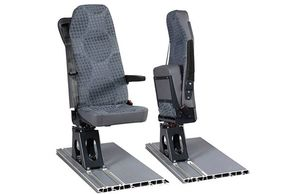 Specialised vans seats that twist, fold up, fold down to create space and storage