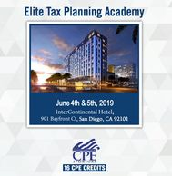 The Elite Tax Planning Academy is a two-day event (16 CPE credits) that brings together some of the
