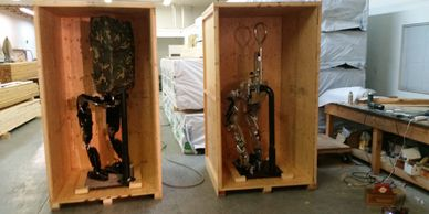 Exoskeleton packaging and crating