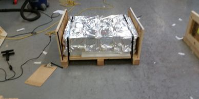 Mylar Vacuum packaging and crating