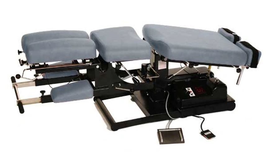 Titan 7 series automatic flexion distraction chiropractic table from Woodgrove Services.