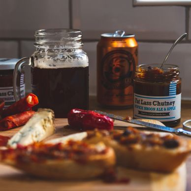 Newkie Broon Ale & Apple chutney, a proper Geordie chutney made with Newcastle Brown Ale.