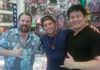 Me with Actor Rob Schneider and Magician Grant Hedani.
