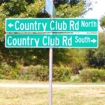 Country Club Road Sign