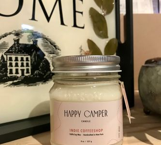 Long Island happy camper candle in coexist scent