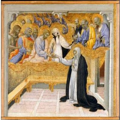 The Mystic Marriage of St. Catherine of Siena by Giovanni di Paolo di Grazia. c. 1450