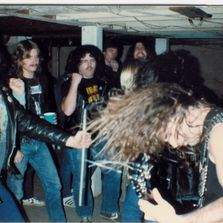 Slayer plays in the basement of Metal Joe from the Old Bridge Militia in NJ