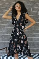 Vneck Flutter Dress $63.00