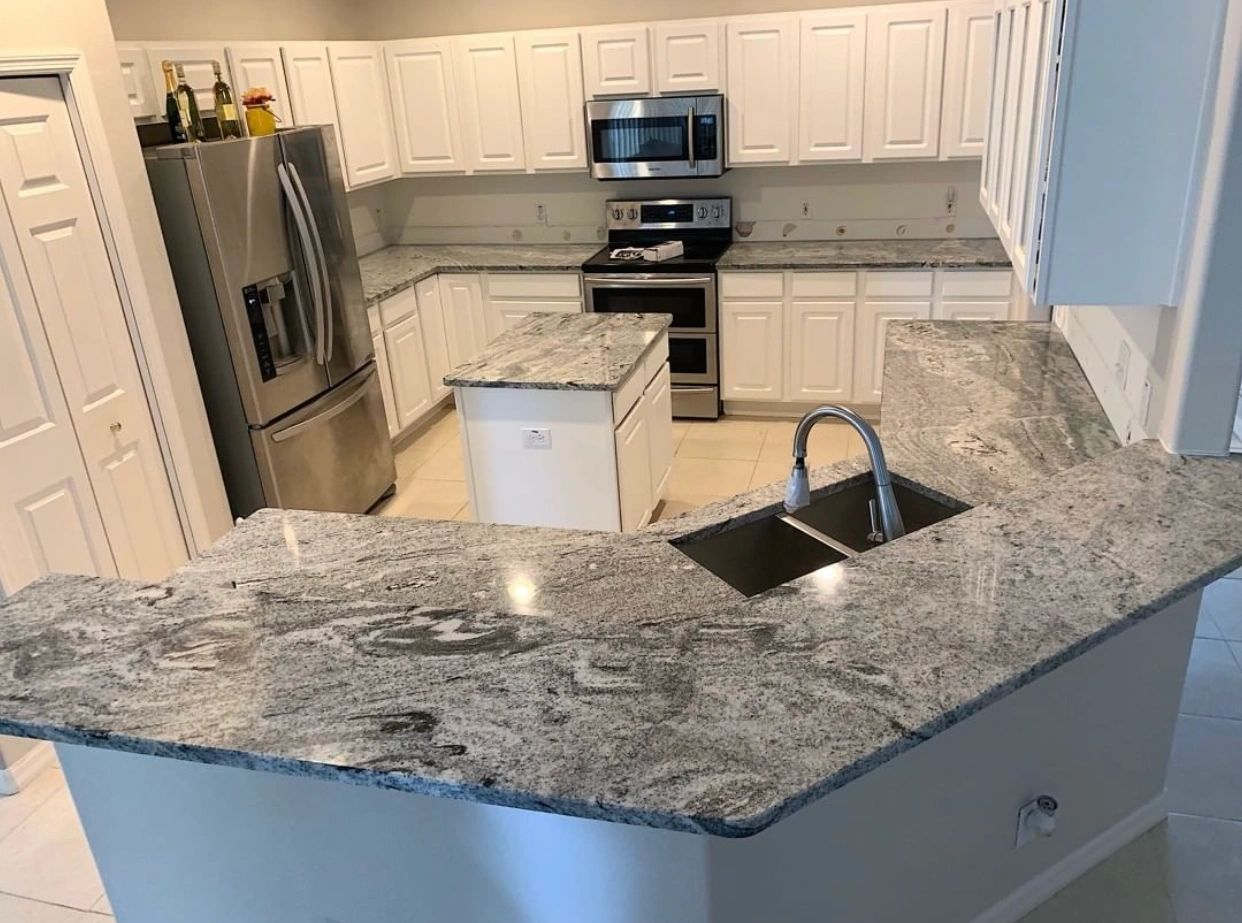 Project: White Vision Countertop Installed in Temple Terrace,FL