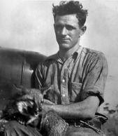 Uncle Don Bud's Brother holding a fox in the Everglades Big Cypress National Preserve