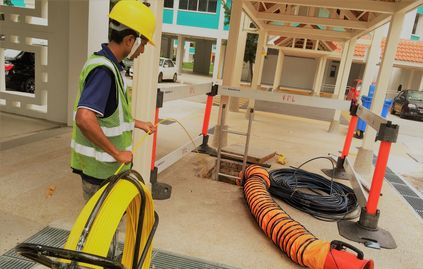 Fiber Optic Cable laying
