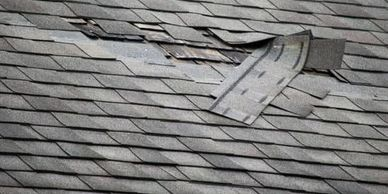 Our roofing company does roof repairs