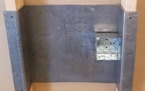 Lead backing for electrical boxes