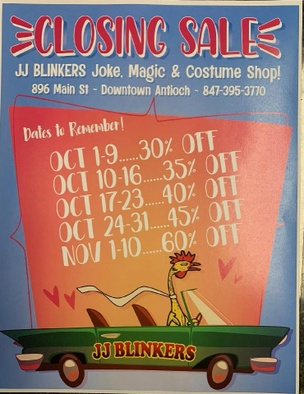 JJ BLINKERS Joke, Magic & Costume Shop!