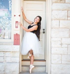 Ms. Hannah Elkins began studying dance in Stephenville at age three. In addition, Ms. Hannah studied
