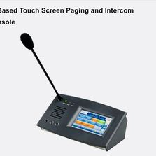 IP Based Touch Screen Paging and Intercom Console