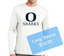 Oasis Sharks Long Sleeve Dry Fit White