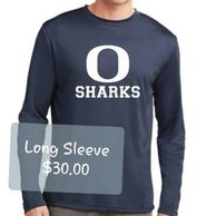 Oasis Sharks Long Sleeve Dry Fit Blue