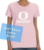 Oasis Sharks Women's Pink Cotton T-shirt