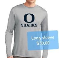 Oasis Sharks Long Sleeve Dry Fit Gray