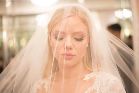 Bride, veil, wedding day, hair salon near me, wedding makeup, bridal makeup, wedding hair, updo