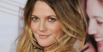 drew barrymore, hair, color, balayee