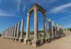 Columns of the agora in the Roman city of Perge in the Mediterranean